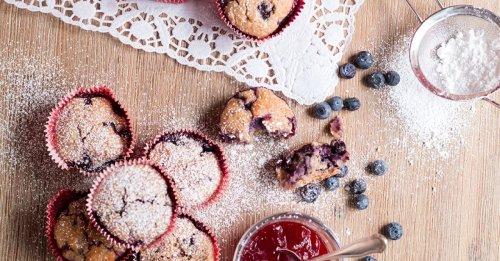 Frühstücks-Muffins mit Blaubeeren