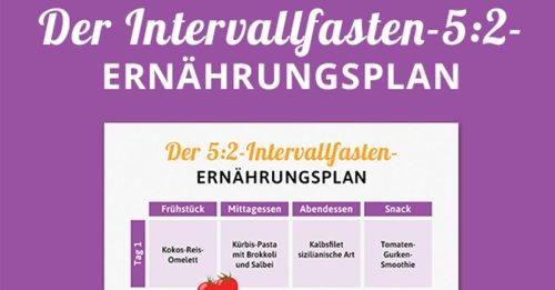 5:2 Intervallfasten: Gratis Ernährungsplan von Experten