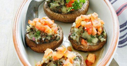 Gefüllte Champignons mit Kartoffelcreme