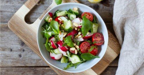 Gurken-Radieschen-Tomaten-Salat