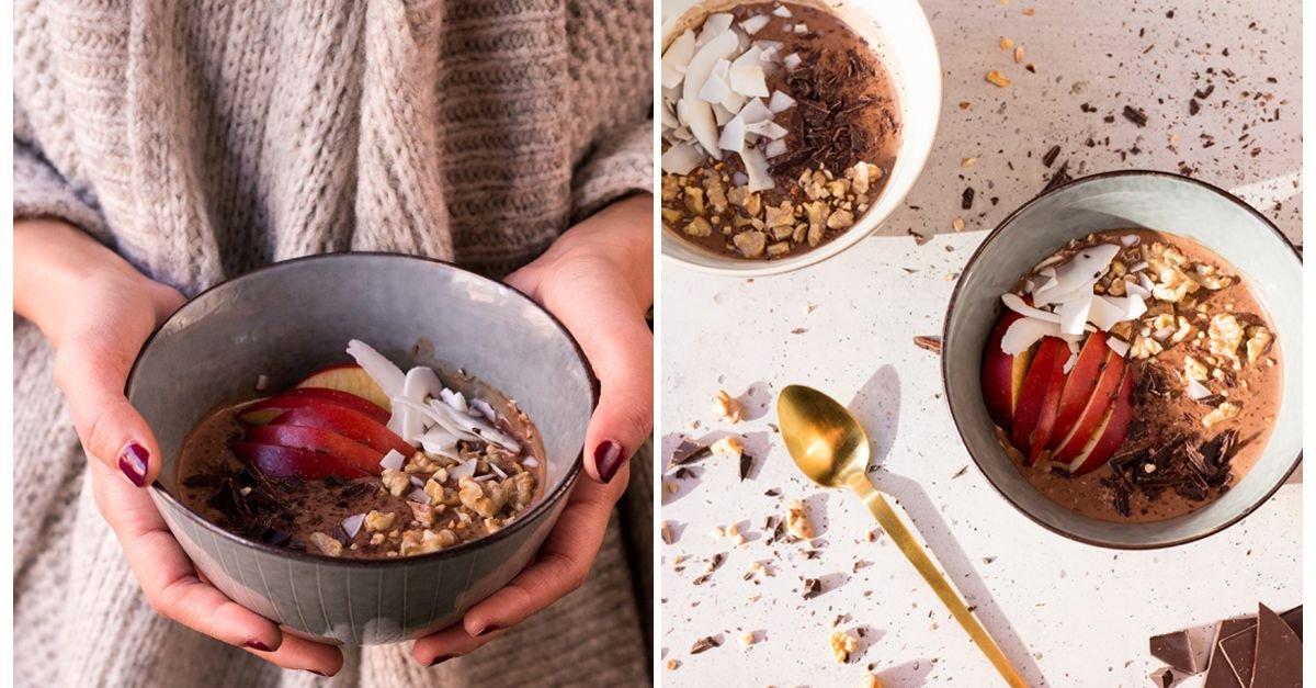 Quinoa-Frühstück mit Schokolade und Kokos
