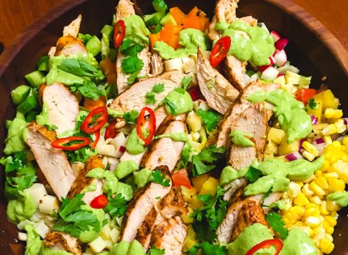 Summer Chicken Sink Salad with Basil & Balsamic   Eat This Not That
