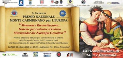 Storia, il Premio Monte Carmignano 2021 per l'Europa e la riconciliazione tra i popoli