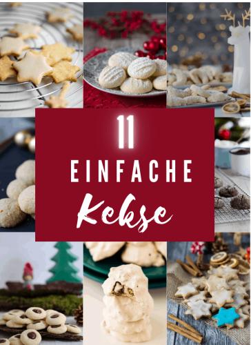 11 einfache Rezepte für Plätzchen & Kekse - Eine Prise Lecker
