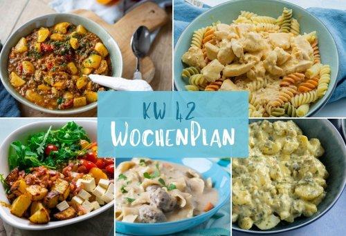 Wochenplan KW 42 – das essen wir diese Woche