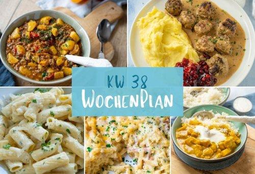 Wochenplan KW 38 - das essen wir diese Woche - Einfach Malene