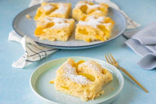 Mega saftig & lecker - Pfirsich Buttermilchkuchen vom Blech - Einfach Malene