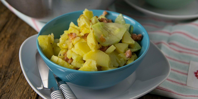 Die perfekte Grillbeilage: Gurken Speck Kartoffelsalat - richtig lecker!