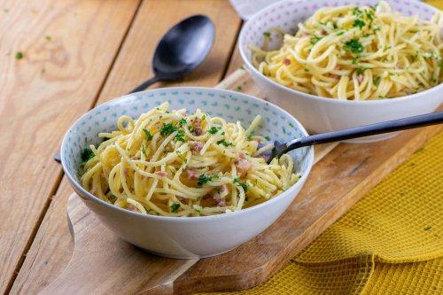 So einfach kochst du Spaghetti Carbonara