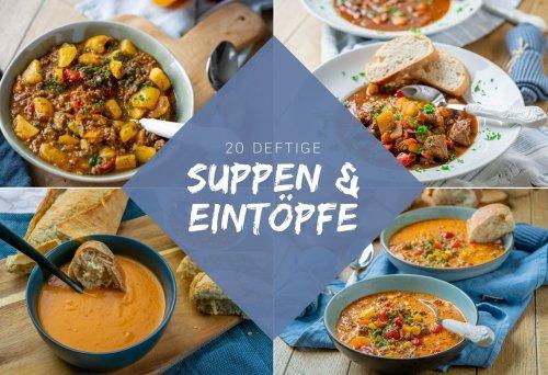 20 einfache Rezepte für Suppen und Eintöpfe - die perfekten Herbst Rezepte - Einfach Malene