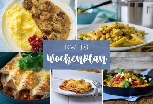Wochenplan KW 16 - das essen wir diese Woche - Einfach Malene