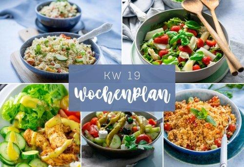 Wochenplan KW 19 - das essen wir diese Woche - Lieblings-Salate
