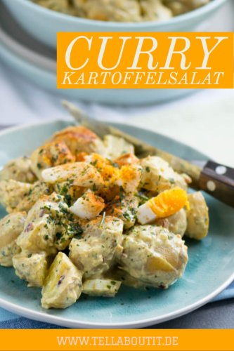 Curry Kartoffelsalat für das Grillbuffet