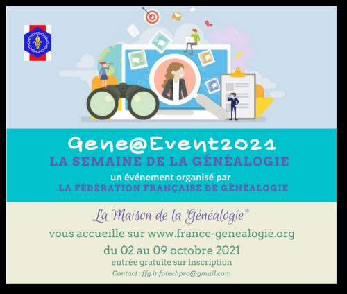 La semaine de la généalogie du 2 au 9 octobre 2021