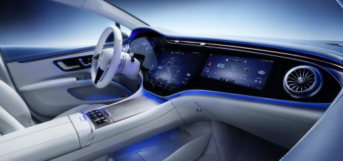 Mercedes-Benz EQS interior unveiled with massive 55-inch screen - Electrek