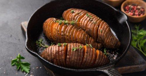 Herbst-Hit: das easy Rezept für schwedische Hasselback-Süßkartoffeln