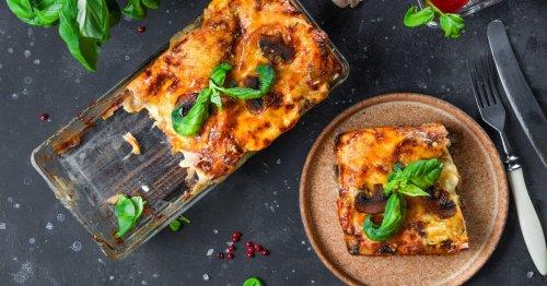 Schnell, lecker, vegetarisch: Rezept für cremige Pilz-Lasagne