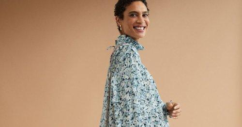 Kleider-Trend: Dieses geblümte H&M Trend-Kleid verlängert optisch den Sommer – und ist Modetrend im Herbst 2021