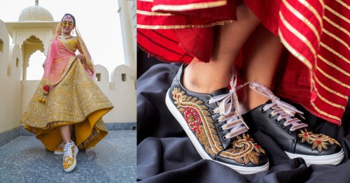 Say Hello To The Saree Sneakers, The New Must-Have For Weddings