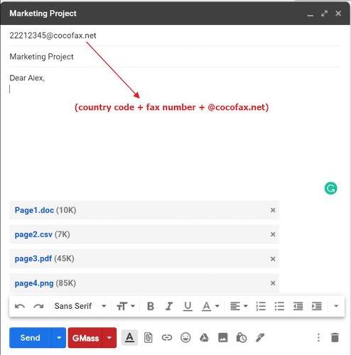 CocoFax: Send Your Fax through Gmail