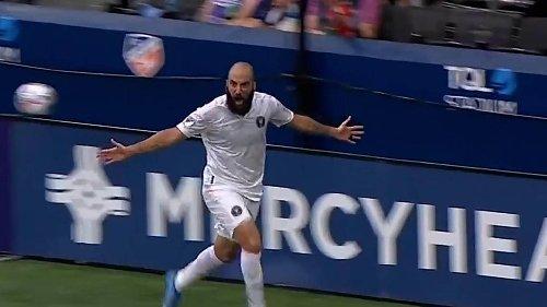 Gonzalo Higuaín anota un doblete en victoria del Inter Miami en Cincinnati