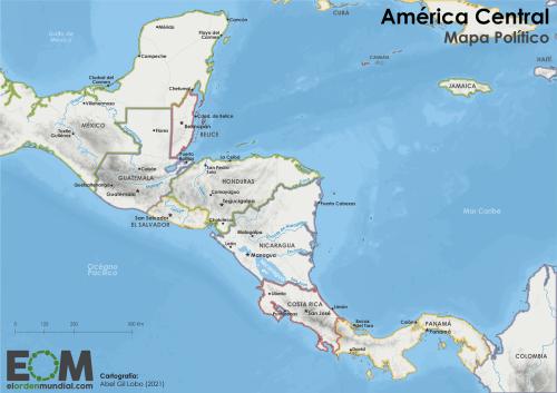 El mapa de Centroamérica - Mapas de El Orden Mundial - EOM