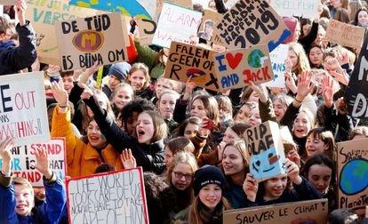 Las protestas escolares por el clima se propagan por Bélgica en la quinta semana de movilizaciones