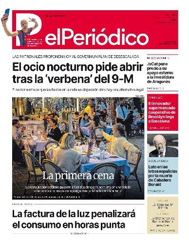 La portada de EL PERIÓDICO del 10 de mayo de 2021