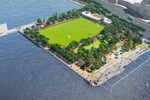 Así será la primera playa pública de Manhattan