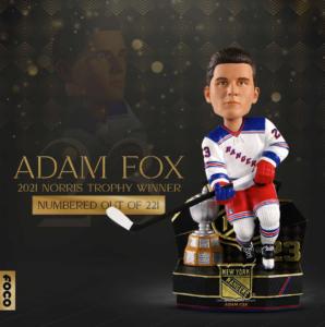 Foco to release New York Rangers' Adam Fox Norris Trophy bobblehead