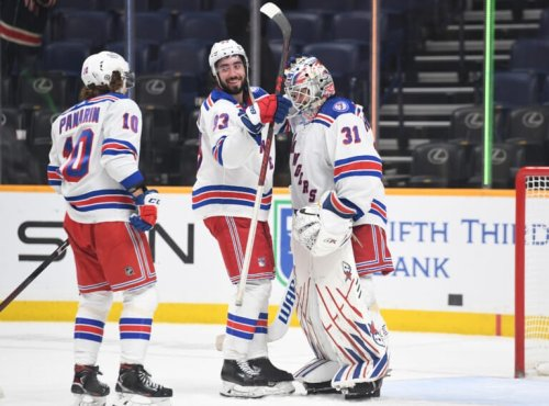 New York Rangers host the Calgary Flames Monday night at MSG