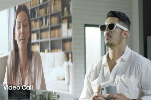 Videos of the Samsung Glasses Lite, augmented reality glasses, are filtered