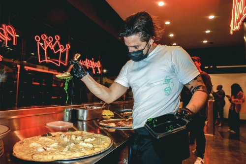 A Pizza Joints Meets a Cannabis Lounge with an Old School Twist