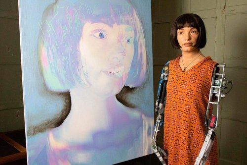 Ai-Da, the First Robot Artist To Exhibit Herself