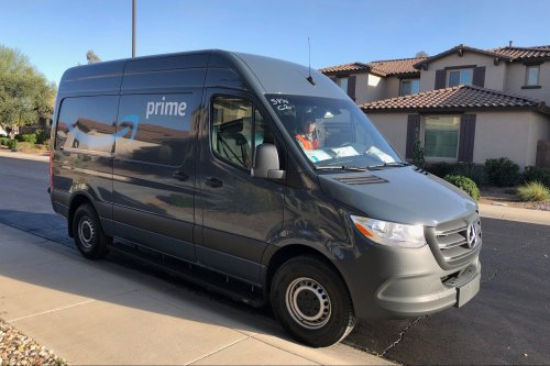 Amazon punishes its delivery men for checking their side mirrors while driving or if another car passes them