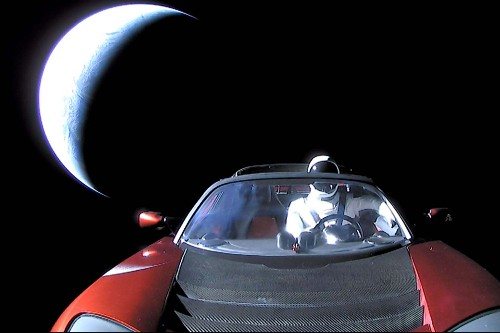 Elon Musk's Tesla Roadster Has a Close Encounter With Mars