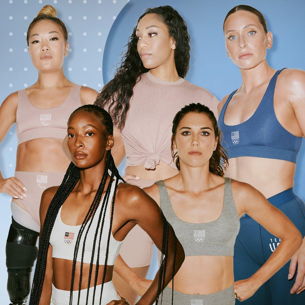 Dress Like an Olympian In Kim Kardashian's Skims Team USA Collection