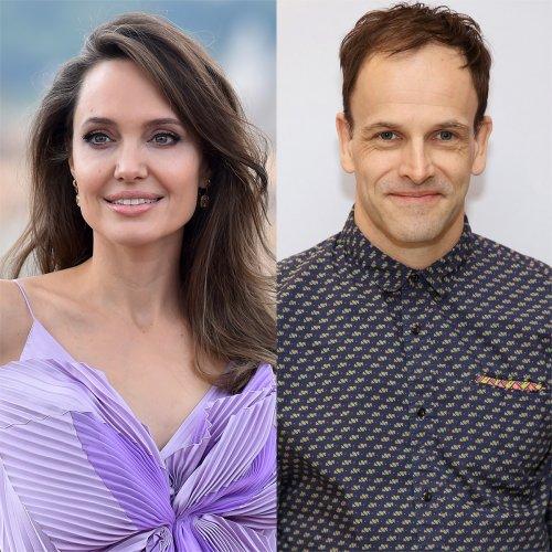 Angelina Jolie Is Spotted Leaving Ex-Husband Jonny Lee Miller's Apartment Building