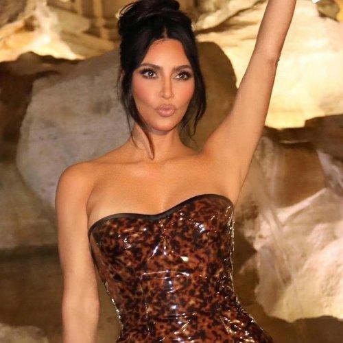 See Kim Kardashian Bare Her Bum in a Sizzling Thong Bikini