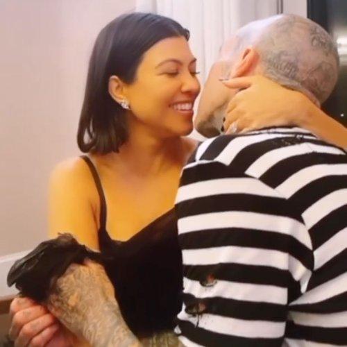 Topless Kourtney Kardashian Reflects On Her Engagement to Travis Barker
