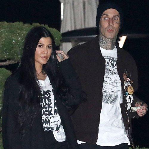 Kourtney Kardashian Bonds With Travis Barker's Kids During Beach Getaway