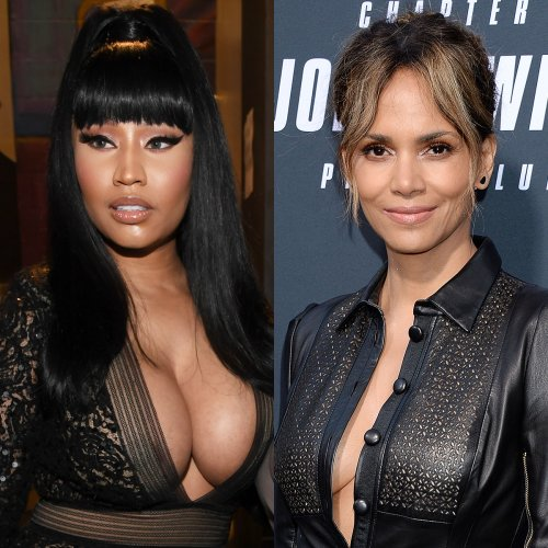 Halle Berry Has the Sweetest Response to Nicki Minaj Fan Trying to Get Noticed By the Rapper