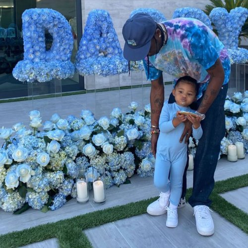 See Travis Scott Give Daughter Stormi a Lift in Adorable Pumpkin Patch Photo