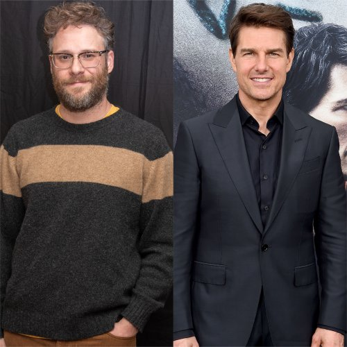 """Seth Rogen's """"Bizarre"""" Meeting With Tom Cruise Included Him Peeing in a Snapple Bottle"""