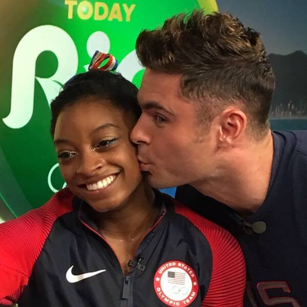When Simone Biles Met Zac Efron—And More Viral Olympic Moments