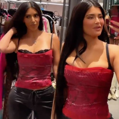Kim Kardashian and Kylie Jenner's Twinning Outfits Will Have You Doing a Double Take