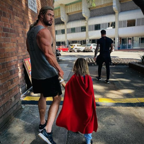 Chris Hemsworth Proves He's the Ultimate Girl Dad During Must-See Family Workout
