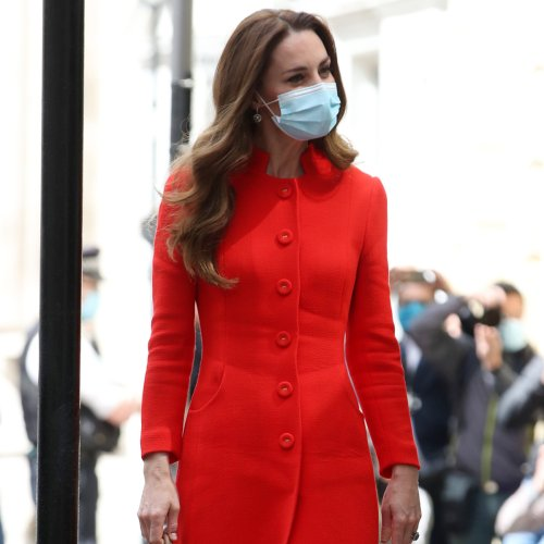 Kate Middleton's Red Coat Will Have You Already Planning Your Fall Wardrobe