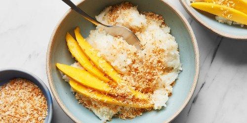Microwave Coconut Sticky Rice With Mango