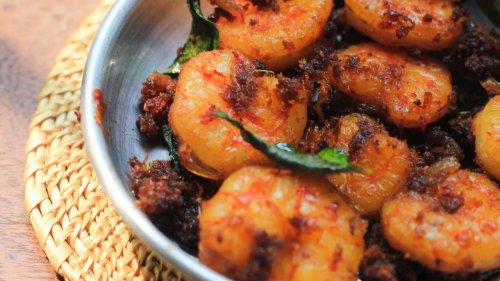 Royyala Iguru (Stir-Fried Prawns)